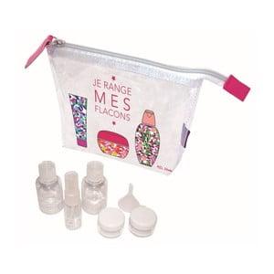 Set priehľadnej taštičky a 5 fľaštičiek s lievikom Incidence Mes Flacons