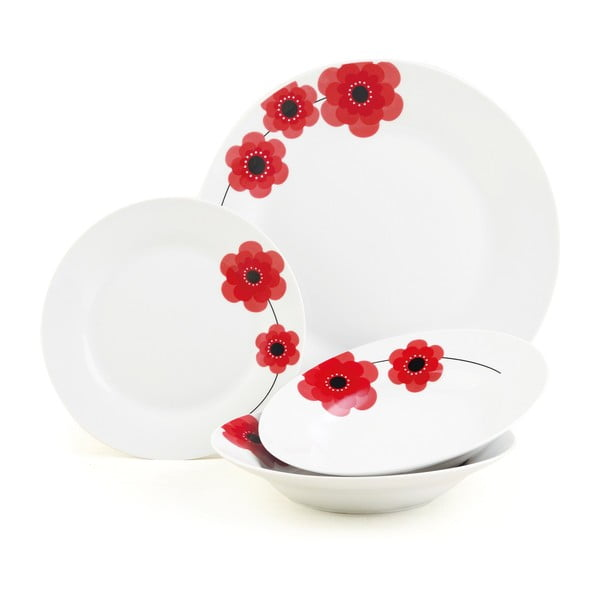 Porcelánový set Indigo Poppy, 12 ks