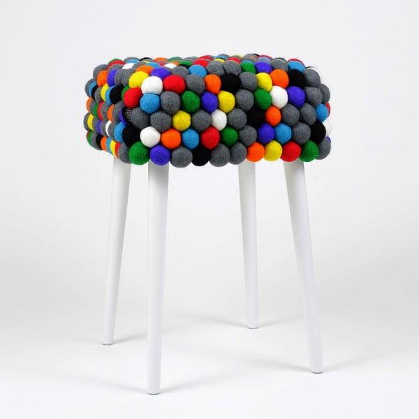 Ručne vyrobená guličková stolička Ikra