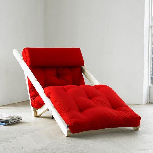 Leňoška Karup Figo, Raw/Red, 70 cm