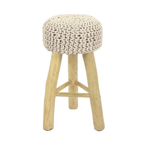 Barová stolička  HF Living Nature s bielym poťahom