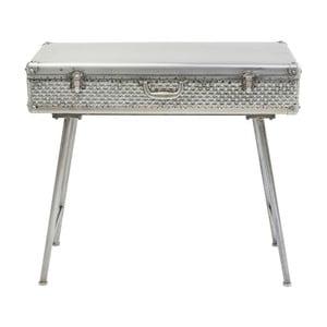 Sivý konzolový stolík s úložným priestorom Kare Design Suitcase