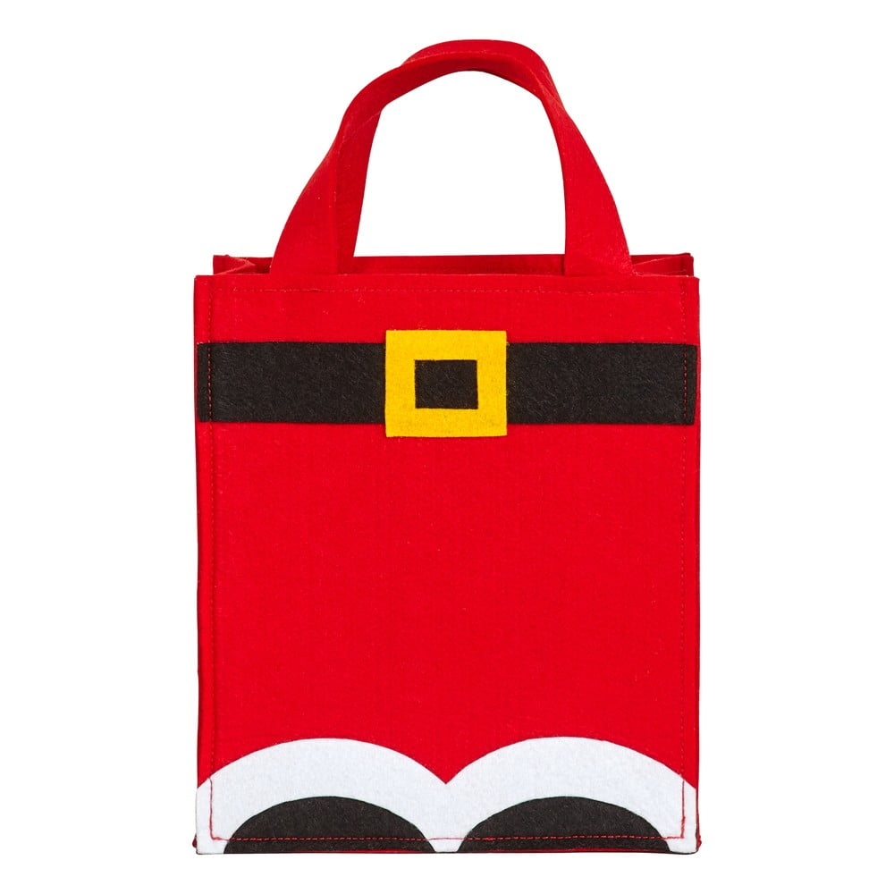Červená darčeková taška z plsti Neviti Santa