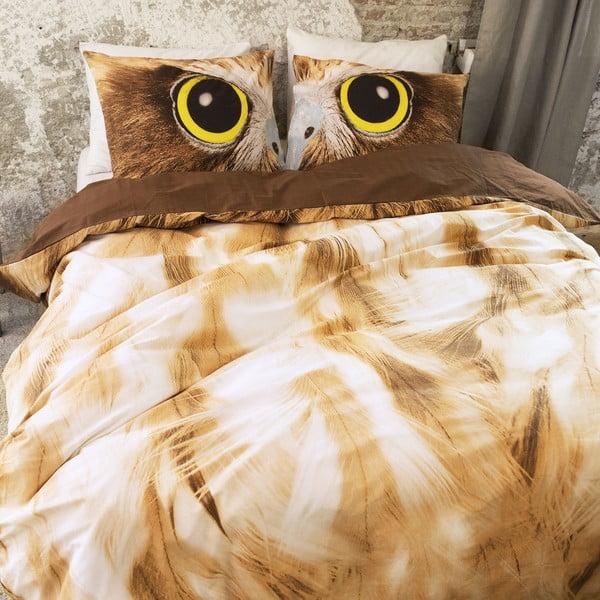 Obliečky Owl Look Taupe, 140x200cm