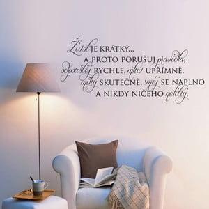 Samolepka na stenu Život je krátky na to, aby...
