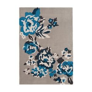 Sivý koberec Asiatic Carpets Harlequin Roses, 170 x 120 cm