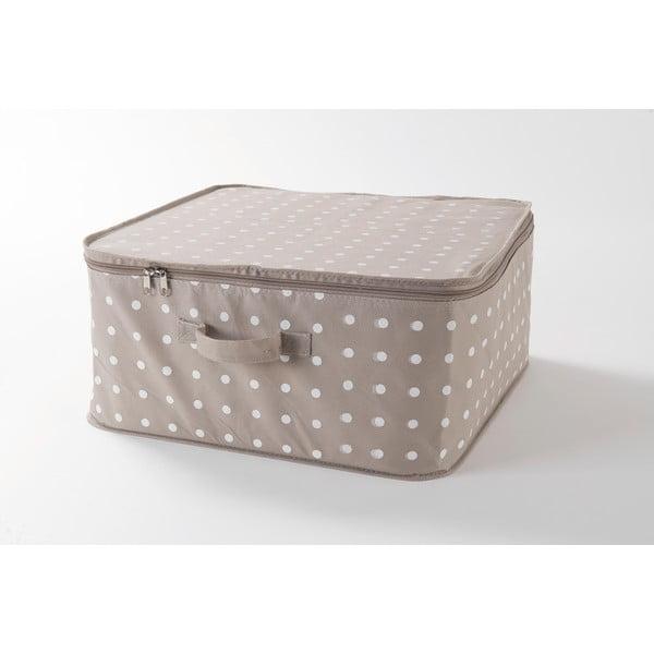 Béžový box na uloženie oblečenia Compactor Dots