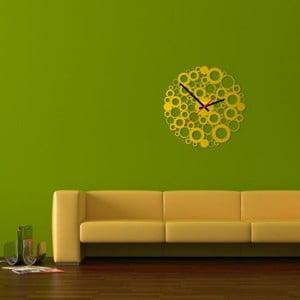 Nástenné hodiny Yellow Bubble