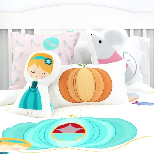 Detské bavlnené obliečky na paplón a vankúš Mr. Fox Pumpkin, 140 × 200 cm