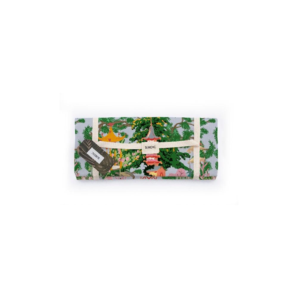 Piknik deka Surdic Manta Picnic s čínskym motívom, 140 x 170 cm