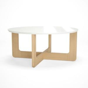 Biely drevený konferenčný stolík Artemob Charlie