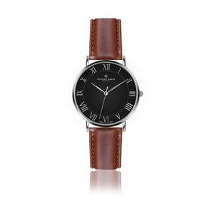 Pánske hodinky s koňakovohnedým remienkom z pravej kože Frederic Graff Silver Dom Cognac Leather