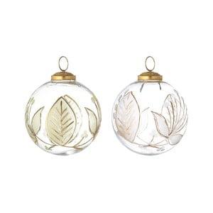 Sada 2 sklenených vianočných ozdôb Bloomingville Ornament, ⌀ 10 cm