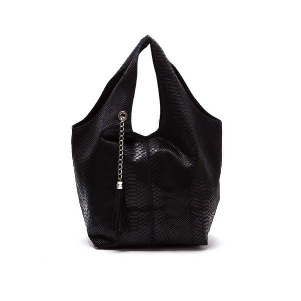 Čierna kožená kabelka Luka