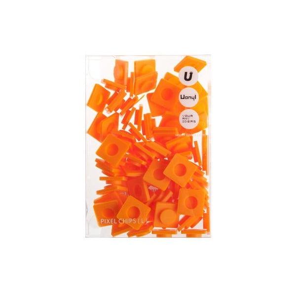 Sada 80 veľkých pixelov, orange
