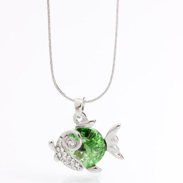 Náhrdelník so Swarovski Elements, zelená rybka