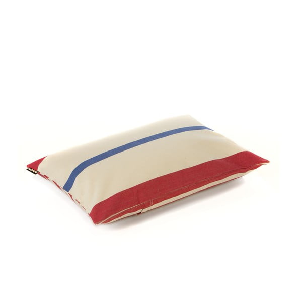 Vankúš Lona 60x40 cm, červeno-modré prúžky