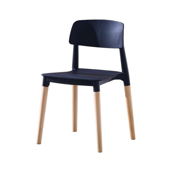 Černo-Hnedá jedálenská stolička Evergreen Houso Simple