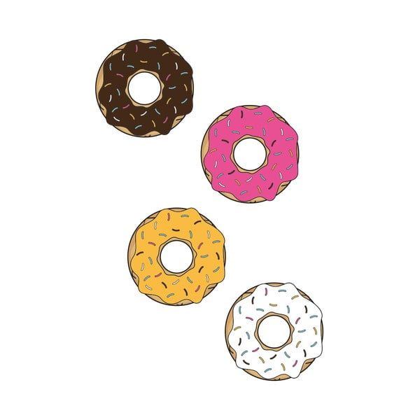 Samolepka na stenu Donuts