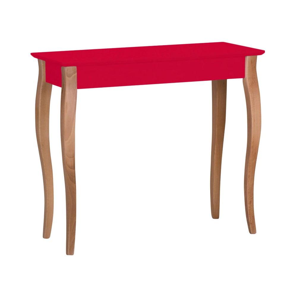 Červený konzolový stolík Ragaba Lillo, šírka 85 cm