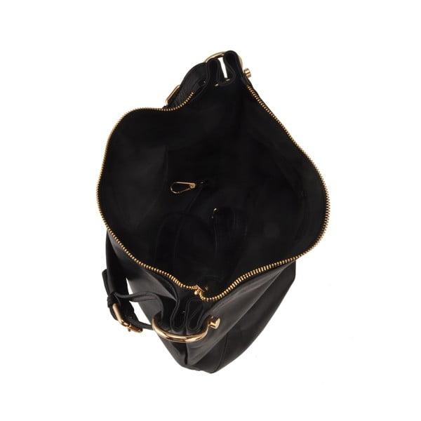 Kožená kabelka Auva, čierna