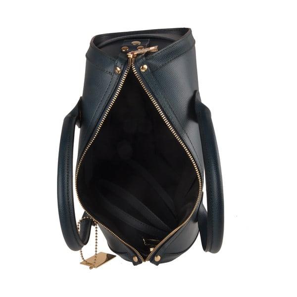 Modrá kožená kabelka Florence Bags Nambo