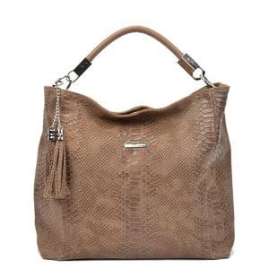 Hnedá kožená kabelka Carla Ferreri Beatrix