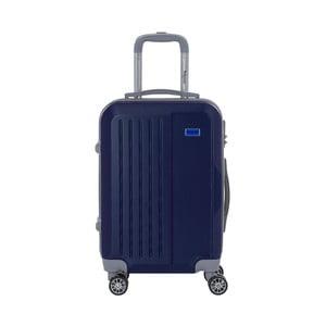 Tmavomodrý cestovný kufor na kolieskách s kódovým zámkom SINEQUANONE Iskra, 44 l