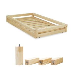 Set lakovanej zásuvky pod posteľ a4predĺžených nôh Benlemi, pre posteľ 80x180cm