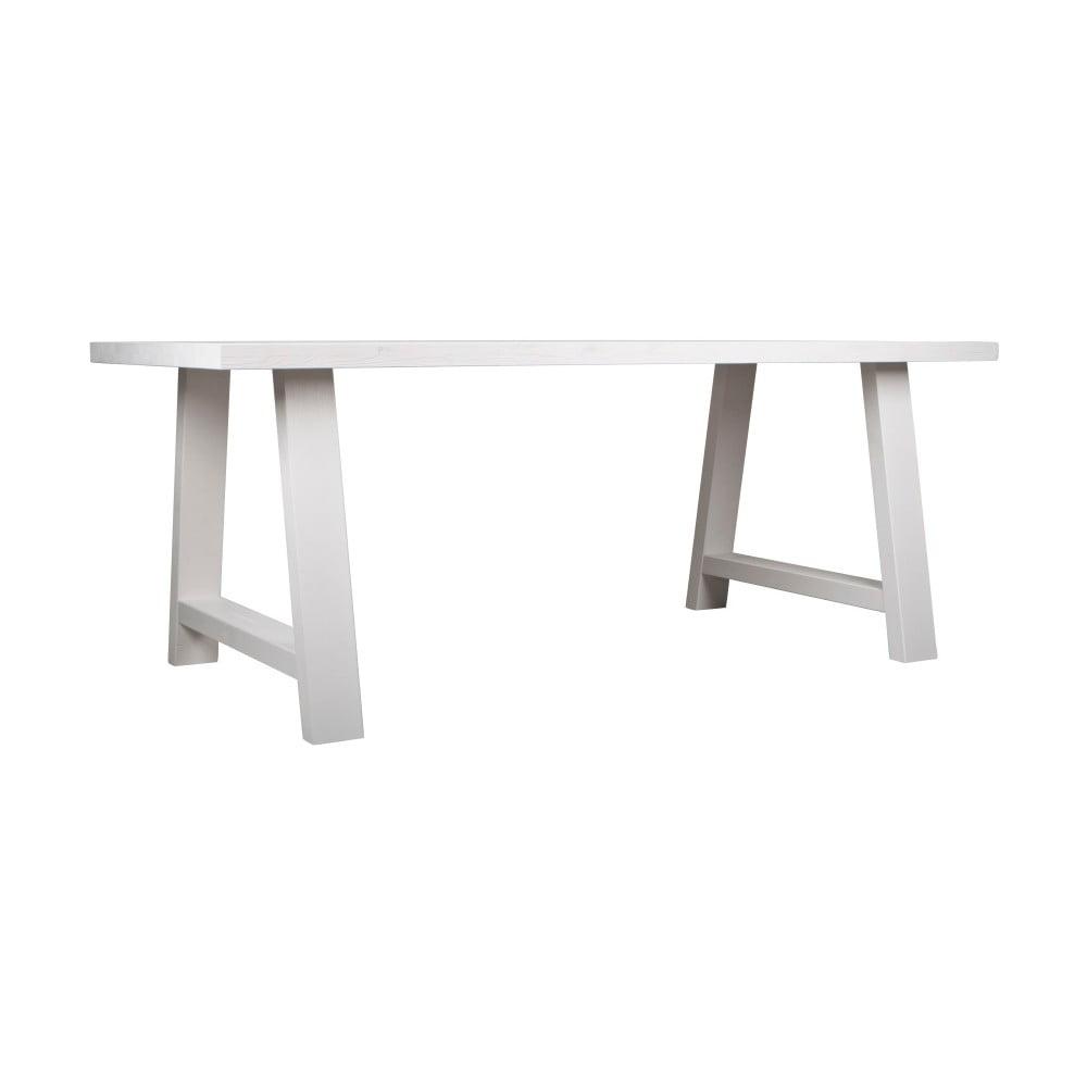 Biely stôl z masívneho dreva Zuiver A Zarámované, 180 x 85 cm