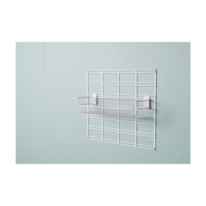 Biely závesný úložný box Compactor Merhi, 46 x 16,7 x 13 cm