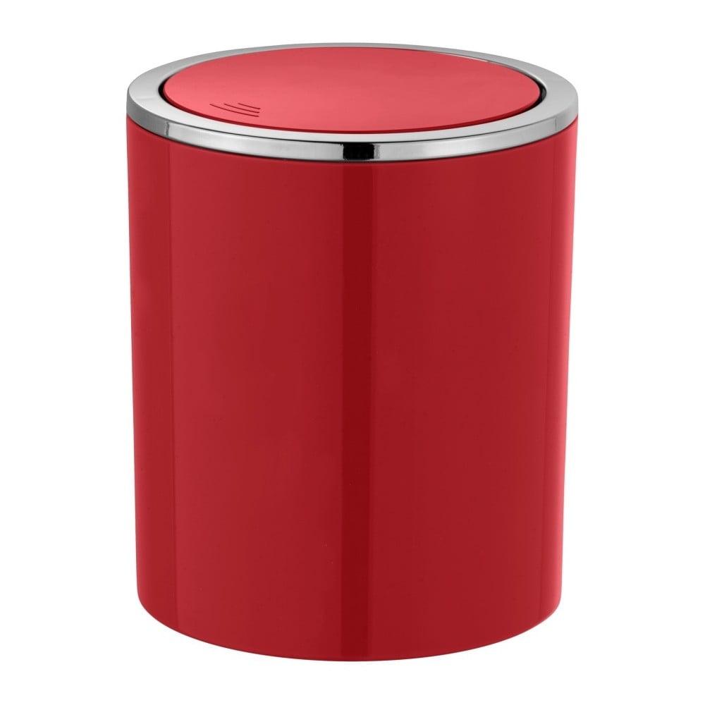 Červený odpadkový kôš Wenko Inca, 2 l