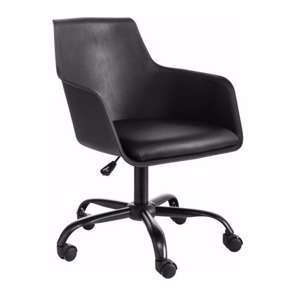 Čierna nastaviteľná kancelárska stolička Støraa Leslie