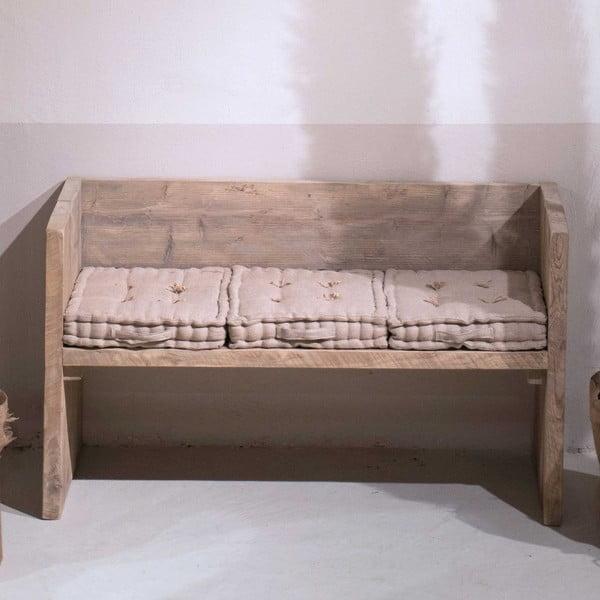 Lavica z recyklovaného dreva Old Wood, 47x129 cm