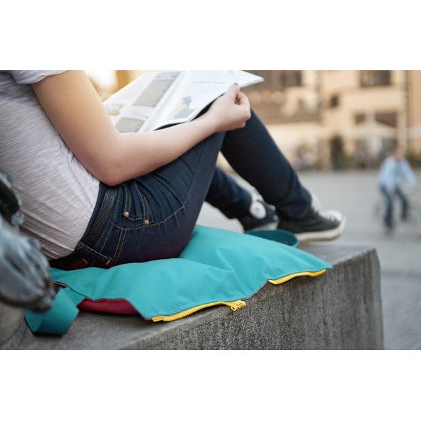 Skladací sedák Hhooboz 50x60 cm, tyrkysový