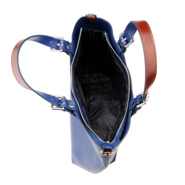Modrá kožená kabelka Florence Cembro