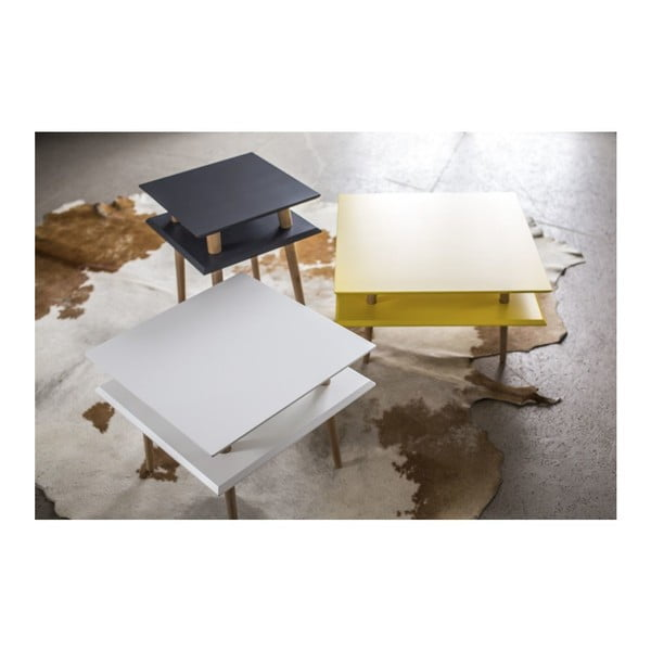 Grafitovosivý konferenčný stolík Ragaba Square, 43x43cm
