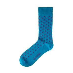 Modré ponožky Black&Parker London Hinton Ampner, veľkosť 37 – 43