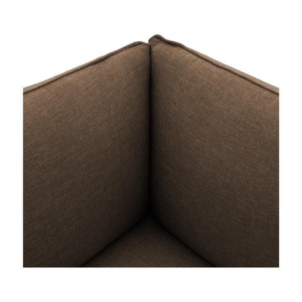 Tmavobéžové kreslo VIVONITA Cube, ľavá strana