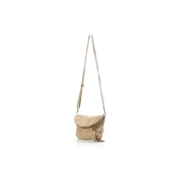 Kožená kabelka Juliette, béžová