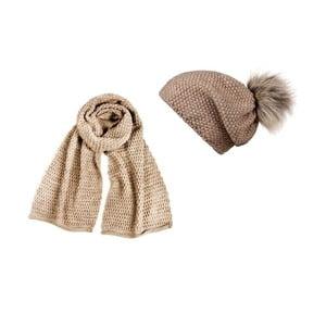 Béžová čiapka so šálom Lavaii Cristina