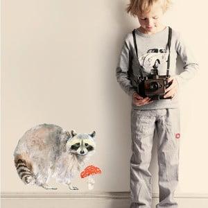 Samolepka na viac použití Raccoon, 40x30 cm