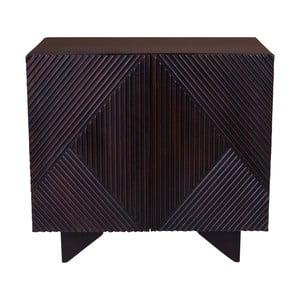 Čierna komoda z mangového dreva House Nordic Morvi