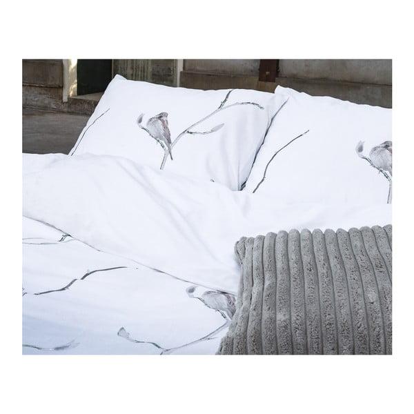 Obliečky z keprovej bavlny Dreamhouse Bird Tree White, 140x220cm