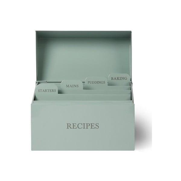 Box s priehradkami na recepty Shutter Blue