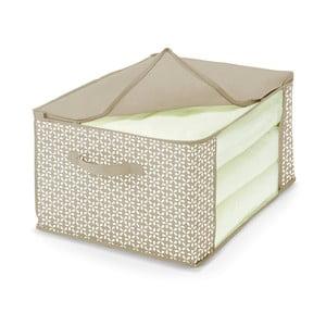 Béžový úložný box na prikrývky Cosatto Lily, 60×45cm