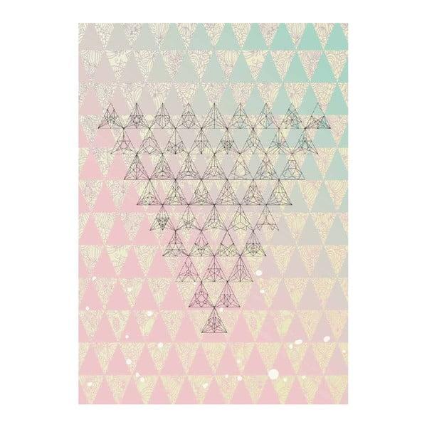Plagát Triangle Art, A3