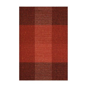 Červený ručne tkaný vlnený koberec Linie Design Genova, 50×80cm