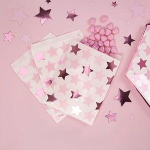 Sada 25 papierových vreciek na sladkosti Neviti Little Star Pink