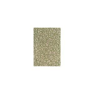 Vlnený koberec Squiggle Green, 120x170 cm